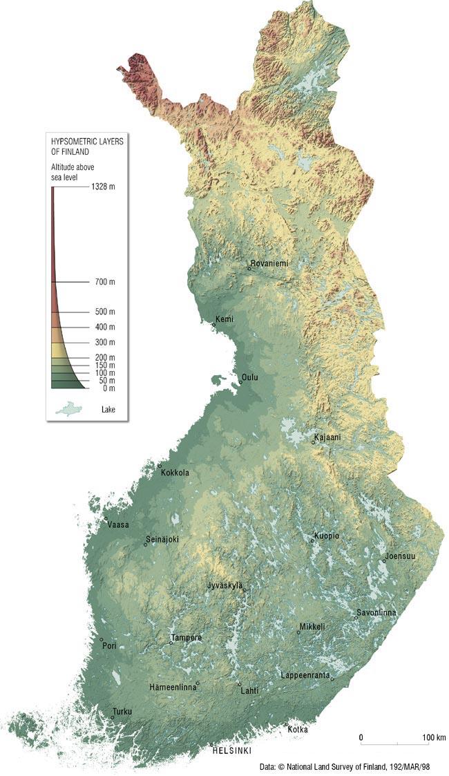 Suomen Korkeus Merenpinnasta